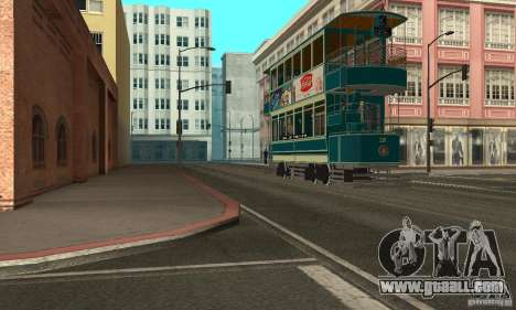 Double Decker Tram for GTA San Andreas left view