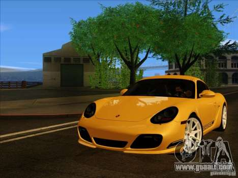 Porsche Cayman R 987 2011 V1.0 for GTA San Andreas back left view
