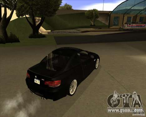 BMW M3 Convertible 2008 for GTA San Andreas back view