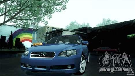 Subaru Legacy B4 3.0R specB for GTA San Andreas back left view