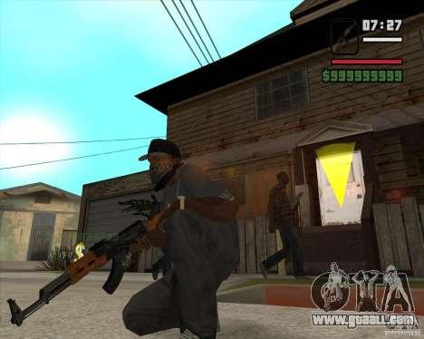 AK 47 of Xenus 2 for GTA San Andreas second screenshot