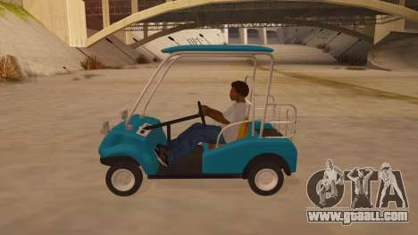 Golf kart for GTA San Andreas left view