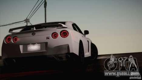 Nissan GTR Black Edition for GTA San Andreas inner view