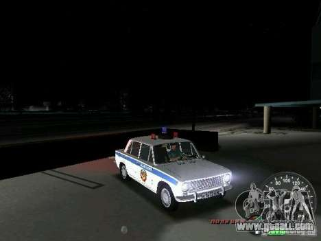 VAZ 2101 Police for GTA Vice City side view