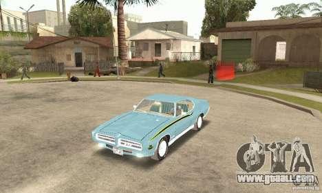 Pontiac GTO The Judge for GTA San Andreas