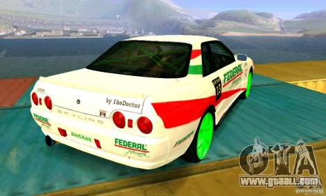Nissan Skyline GT-R32 BadAss for GTA San Andreas right view