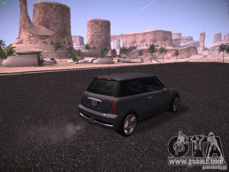 Mini Cooper S for GTA San Andreas back left view