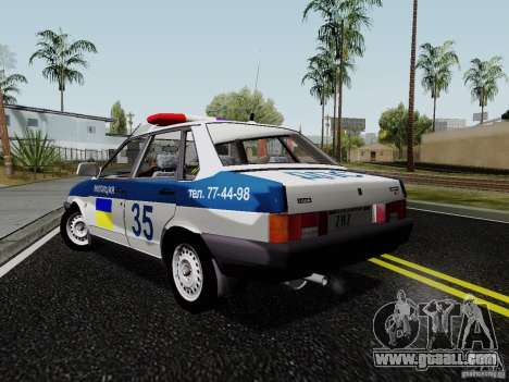 VAZ 21099, police for GTA San Andreas left view