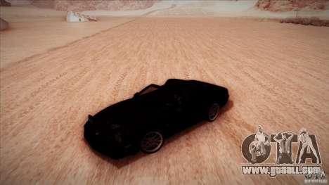 Pontiac Firebird Trans Am for GTA San Andreas inner view