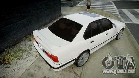 BMW M5 (E34) 1995 v1.0 for GTA 4 back left view