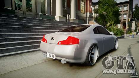 Infiniti G35 Coupe 2003 JDM Tune for GTA 4 upper view