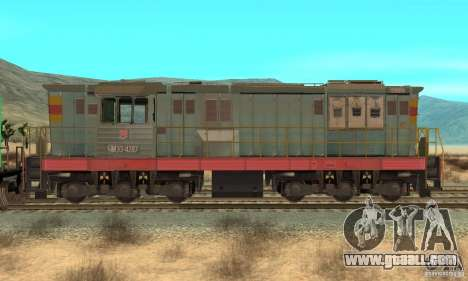 Locomotive ChME3-4287 for GTA San Andreas back left view