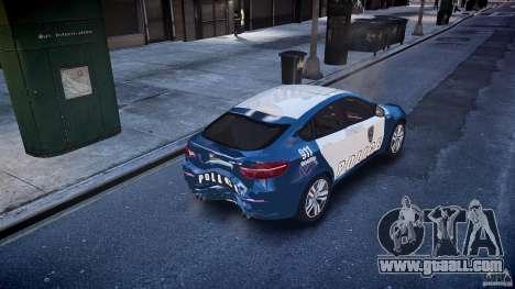 BMW X6M Police for GTA 4 bottom view
