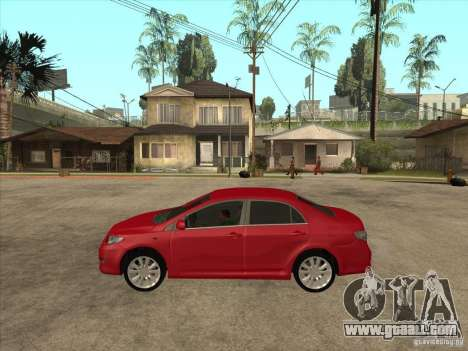Toyota Corolla 2008 for GTA San Andreas left view