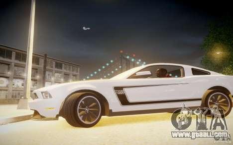 Ford Mustang 2012 Boss 302 v1.0 for GTA 4 left view