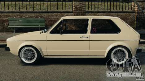 Volkswagen Golf Mk1 Stance for GTA 4 left view