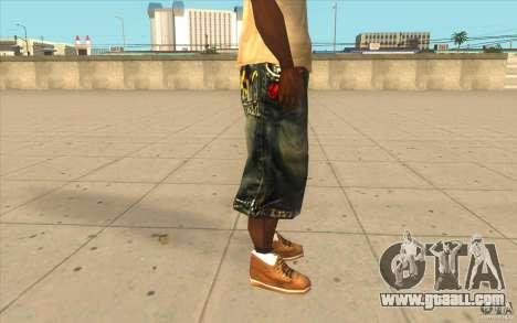 The BIG Makaveli Short Jeans for GTA San Andreas forth screenshot