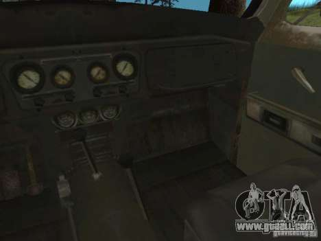 UAZ-31519 from COD MW2 for GTA San Andreas inner view