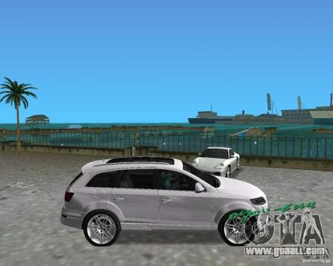 Audi Q7 v12 for GTA Vice City right view