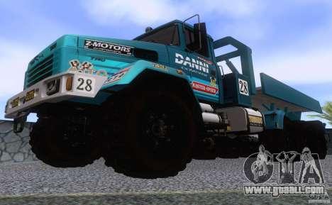KrAZ 7140H6 Trial for GTA San Andreas inner view