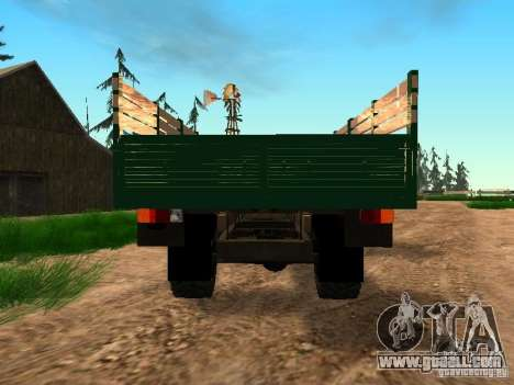 An experienced 4 x 4 505 MAZ 1962 for GTA San Andreas back view