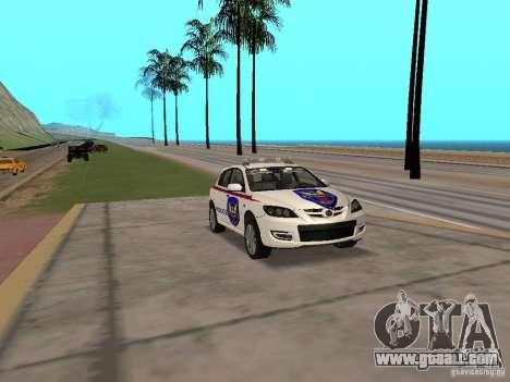 Mazda 3 Police for GTA San Andreas right view