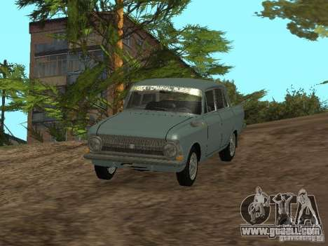 IZH 412 Moskvich for GTA San Andreas right view