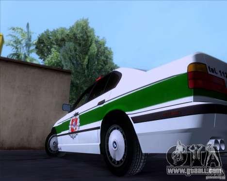 BMW E34 Policija for GTA San Andreas inner view