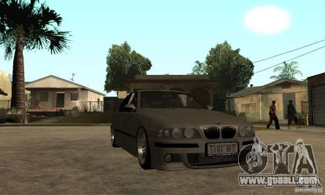 BMW E39 M5 Sedan for GTA San Andreas back view