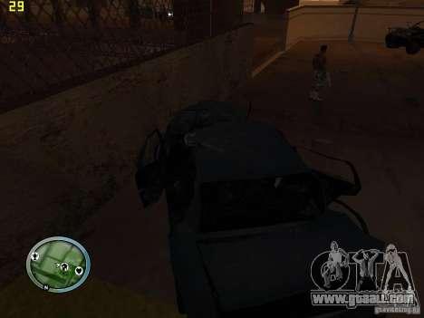 Broken cars on Grove Street for GTA San Andreas sixth screenshot