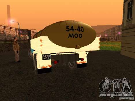 GAZ 53 milk tanker for GTA San Andreas back left view