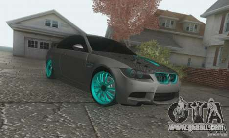 BMW M3 E92 Hellaflush v1.0 for GTA San Andreas left view