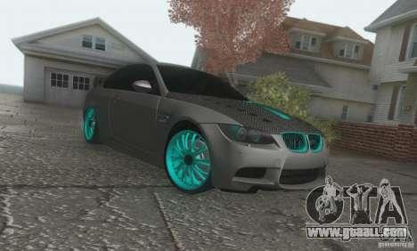 BMW M3 E92 Hellaflush v1.0 for GTA San Andreas left view