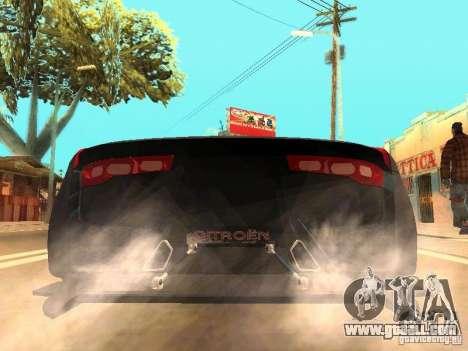 Citroen GT Gran Turismo for GTA San Andreas back left view