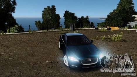 Jaguar XJ 2012 for GTA 4 bottom view
