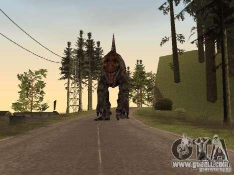 Dinosaurs Attack mod for GTA San Andreas ninth screenshot