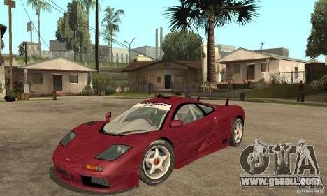 Mclaren F1 GTR (v1.0.0) for GTA San Andreas