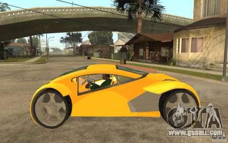 Lexus Concept 2045 for GTA San Andreas left view