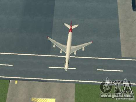 Airbus A340-300 Qantas Airlines for GTA San Andreas side view