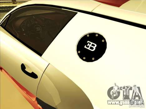 Bugatti Veyron for GTA San Andreas side view
