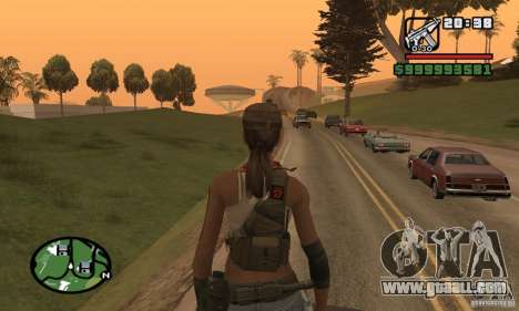 The new military girl for GTA San Andreas forth screenshot
