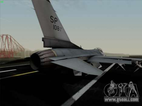 F-16C Warwolf for GTA San Andreas interior