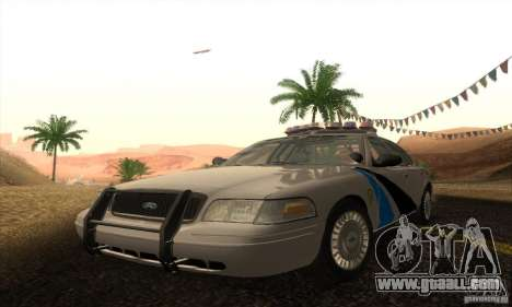 Ford Crown Victoria Colorado Police for GTA San Andreas