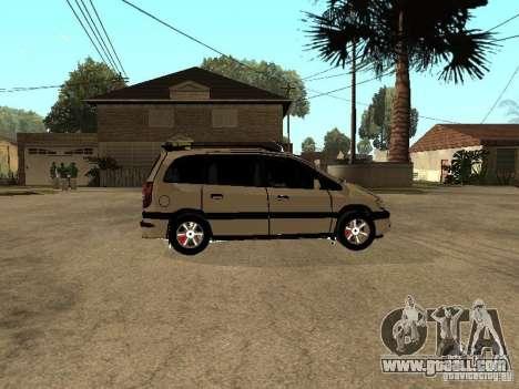 Opel Zafira for GTA San Andreas back view