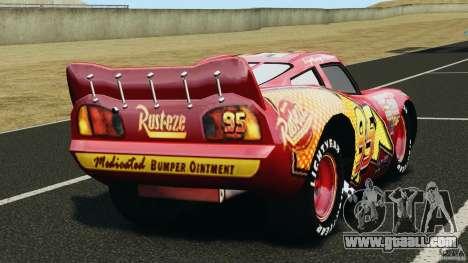 Lightning McQueen for GTA 4 back left view