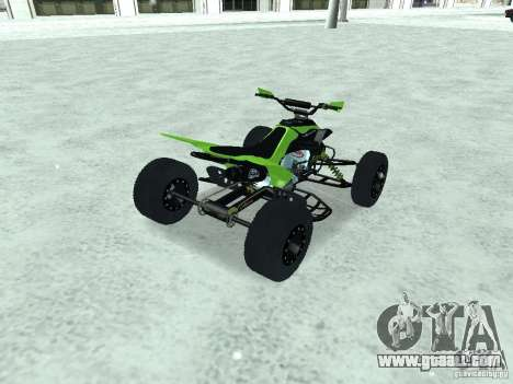 Kawasaki Monster Energy Quad for GTA San Andreas left view