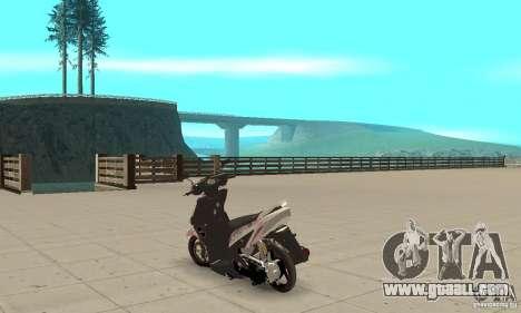 Honda Vario-Velg Racing for GTA San Andreas back left view