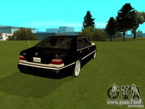 Mercedes-Benz 600 W140 for GTA San Andreas back left view