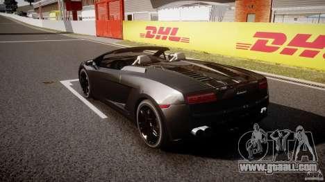 Lamborghini Gallardo LP560-4 Spyder 2009 for GTA 4 back left view