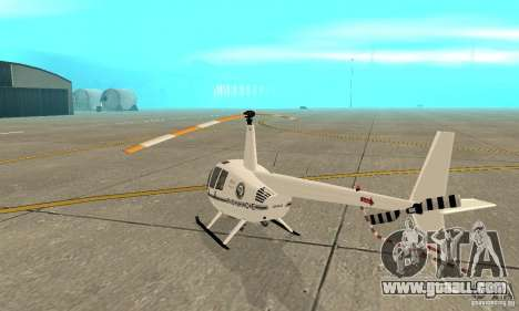 Robinson R44 Raven II NC 1.0 White for GTA San Andreas right view